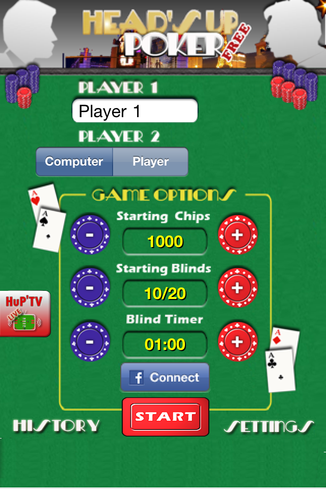 Screenshot H'Up Poker Free